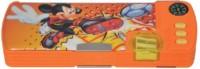 Disney Mickey Mouse Cartoon Characters Art Plastic Pencil Box (Set Of 1, Muticolor)