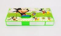 Alex's Mickey Mickey, Donald Duck Art Plastic Pencil Box (Set Of 1, Green)