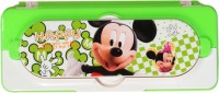 Westoindie Mickey Mouse Designer Art Plastic Pencil Box (Set Of 1, Green)