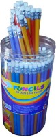 Kores With Eraser Round Shaped Pencils (Set Of 1, Multi Color)