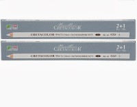 Cretacolor Drawing Round Shaped Pencils (Set Of 6, White)