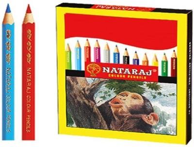 Nataraj Half Size Colour Hexagonal Shaped Pencils Set of 100, Multi Colour