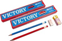 Doms Victory Triangular Shaped Pencils (Set Of 10, Black)