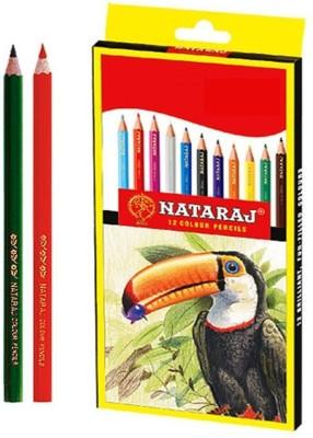Nataraj Full Size Colour Hexagonal Shaped Pencils Set of 60, Multi Colour