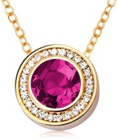 Peora Circle Of Life 18K Yellow Gold Plated Crystal Alloy Pendant