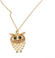 Bohocraft Bohemian Owl Pendant Gold Necklace Long Sweater Chain Metal Pendant
