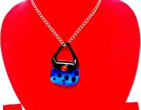 SrinidhiHandiCreations Bag Glass Pendant