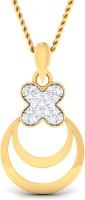 P.N.Gadgil Jewellers 18kt Diamond Yellow Gold Pendant