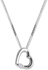 Amogh Jewels White Gold Diamond Sterling Silver Pendant