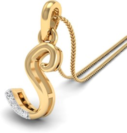WearYourShine by PCJ The Initial S Diamond 18kt Diamond Yellow Gold Pendant