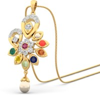 WearYourShine By PCJ The Anoosheh 18K Diamond, Ruby, Emerald, Sapphire, Coral, Garnet, Cat's Eye Gold Pendant