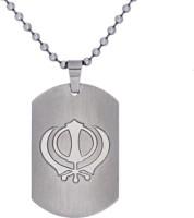 Suvarna Metal Khanda Sikh Style Sterling Silver Stainless Steel Pendant