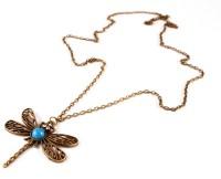Dhrohar Bronze Alloy Vintage Dragonfly Brass Alloy Pendant