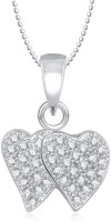 Meenaz Heart Pendant Locket With Chain For Women Love Valentine Gifts Brass Cubic Zirconia, Diamond Alloy Pendant