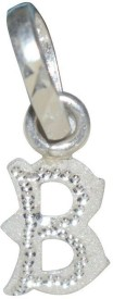Kataria Jewellers Letter B 92.5 BIS Hallmarked Silver Alphabet Initial Silver Pendant