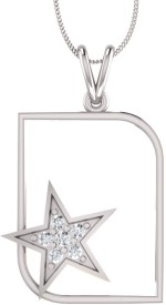 Bright Fashion Classic Collection Rhodium Sterling Silver Pendant