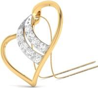WearYourShine By PCJ The Vivian Heart 18K Diamond Gold Pendant