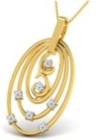 His & Her Love Forever 18kt Diamond Yellow Gold Pendant - PELECK5HYDNEWCDA