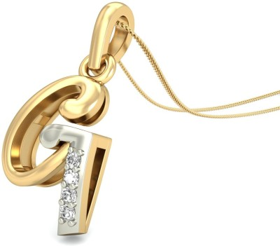 WearYourShine By PCJ The Initial G Diamond Gold Pendant