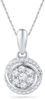 Jpearls Awesome 18K White Gold 18K Diamond Gold Pendant