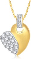 VK Jewels True Love Heart 18K Yellow Gold Plated Cubic Zirconia Alloy Pendant
