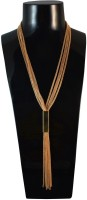 Sarah Tassels Choker Necklace For Women - Gold NAK Metal Pendant