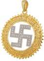 Affinity Jewellers Swastik Alloy 18K Yellow Gold Plated Pendant