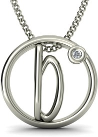 BlueStone The Italia B Gold Pendant