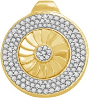 Vijisan 3.02 Ct Fancy Medallion 18K Yellow Gold Plated Cubic Zirconia Sterling Silver Pendant