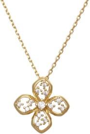 Aaishwarya Floral Delight Crystal Alloy Pendant