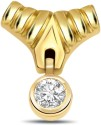 Surat Diamond Two Tone Yellow Gold 18K Yellow Gold Plated Pendant - PELDU833BXFGRFGS