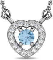 Sparkles Love Forever 18K White Gold Plated 18K Diamond White Gold Pendant