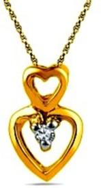 Gunjan Diamond Love Forever 18K Yellow Gold, Rhodium 18K Diamond Gold