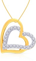Malabar Gold And Diamonds Yellow Gold Plated 18K Diamond Gold Pendant