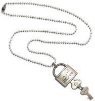 Men Style Lovers' Lock And Key Stainless Steel Pendant Set
