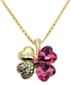 Beora Plant Yellow Gold Crystal Alloy Pendant