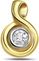 Surat Diamond Stylish Two-Tone Yellow Gold 18K Yellow Gold Plated Pendant
