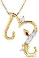 WearYourShine By PCJ The M Initial Ganesha 18K Diamond Gold Pendant
