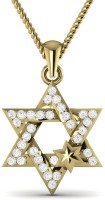 Ciemme 18K Yellow Gold Plated Cubic Zirconia Sterling Silver Pendant - PELE7VEYY6SYPGJ4