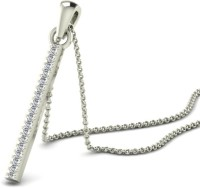Sparkles P11807D White Gold Plated 18K Diamond Gold Pendant