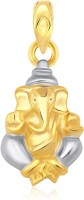 Classic Budinath Ganesha Gold And Rhodium Plated Pendant [CJ1021PG] Yellow Gold 18K Cubic Zirconia Alloy Pendant
