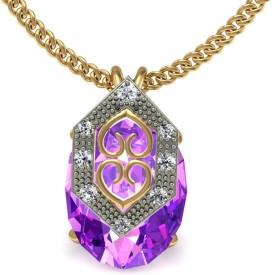 Jewelmantra 18kt Diamond Yellow Gold Pendant