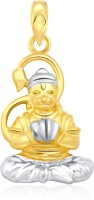 Classic Jai Hanuman Gold And Rhodium Plated Pendant [CJ1013PG] Yellow Gold 18K Cubic Zirconia Alloy Pendant