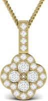 Ciemme 18K Yellow Gold Plated Cubic Zirconia Sterling Silver Pendant - PELE7VEYEDDMGHBQ