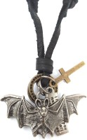 Ammvi Creations The Bat Adjustable Necklace For Men Leather Pendant
