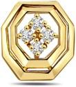 Surat Diamond Beautiful Smile Yellow Gold 18K Yellow Gold Plated Pendant