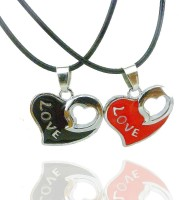 Alphaman Love Is In The Air Alloy, Leather Pendant Set