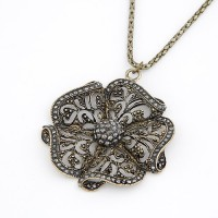 Cinderella Collection By Shining Diva Golden & Silver Alloy Pendant
