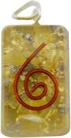 Aaradhi Divya Mantra Metaphysical Yellow Reiki DVYM0001024 Onyx Acrylic Pendant