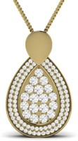 Ciemme 18K Yellow Gold Plated Cubic Zirconia Sterling Silver Pendant